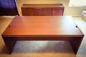 Kimball Mid century Modern Cherry Desk Credenza 5 Incredible Set Solid