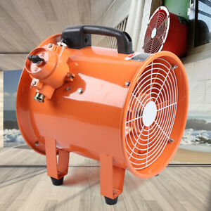 12 Explosion proof Axial Fan Extractor Ducting Fan Fume Extractor Portable 110v