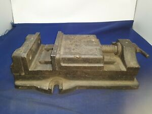 Horizontal Mill Vise 6 5 Wide Removable Steel Jaw Opens 4 5 8 75x15 75x4 Clamp