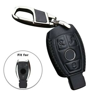 Leather Car Remote Keys Case Fob Cover Holder For Mercedes benz W203 C E Class