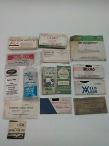 Vintage Lot Of Welding Filters Glass Plastic Lens Shade Plate 29 Pieces