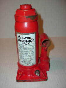 Bottle Jack Red Hydraulic 6 Ton Car Truck Lift