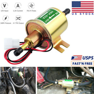 Universal Electric Fuel Pump Hep 02a 4 7psi 12v Inline Low Pressure Gas Diesel