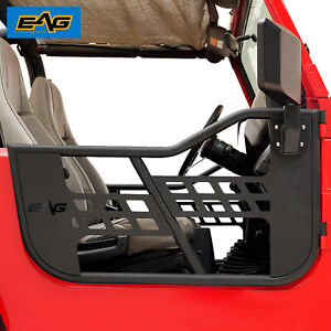 Eag Safari Steel Tubular Door With Side Mirror Pair Fit For 76 95 Jeep Cj7 Yj