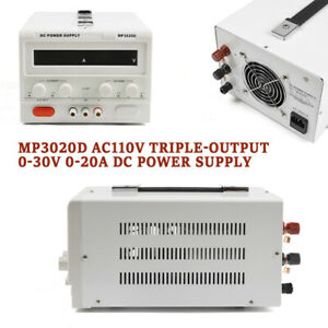 Dc Power Supply 0 30v 0 20a Variable Dc Bench Power Supply Regulated Bench Power