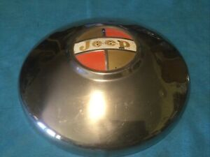 1960 s Jeep Jeepster Wagoneer Wrangler Poverty Baby Moon Dog Dish Hubcap