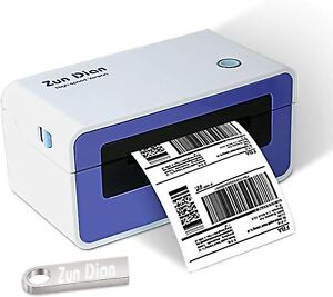 Thermal Label Printer 4x6 High Speed Shipping Printer W 450 Labels Holder Set