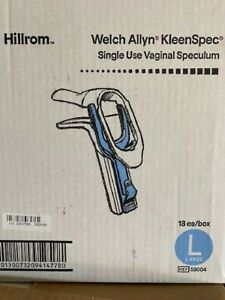 Box Of 18 Welch Allyn Hillrom Kleenspec Vaginal Speculum Large Single Use 59004