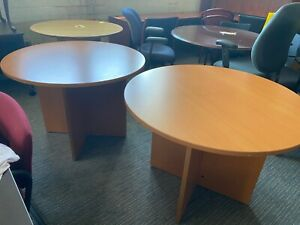 42 Round Conference Table In Cherry Laminate
