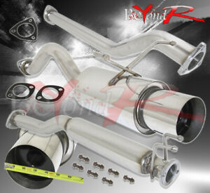 For 02 06 Acura Rsx Dc5 Base K20 Stainless Steel Exhaust Catback System 4 5 Tip