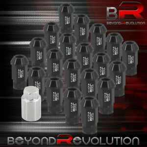 For Toyota 12x1 5 Forged Aluminum 20x Extended Tuner Lug Nuts Set Black adapter