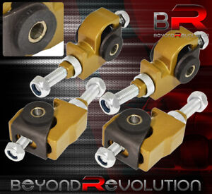 For 88 95 Civic Crx Front 1 3 Adjustable Steel Control Camber Arm Bar Kit Gold