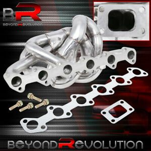 For Bmw E30 323 325 Stainless Steel T3 T4 Turbo Exhaust Header Manifold Kit Euro