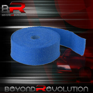 360 30ft Blue High Temp Heat Wrap Shield Cover Insulation Reduction Piping Pipe