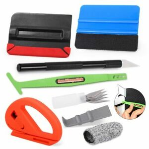 Car Wrap Squeegee Felt Vinyl Tools Kit For Auto Window Tint Installation Glove