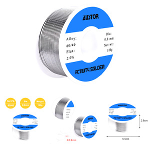 Austor 60 40 Tin Lead Rosin Core Solder Wire For Electrical Soldering 100g