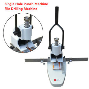 B3 Single Hole Punch Machine File Drilling Machine Qy t30 Stainless Steel New
