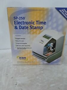 Icon Time Systems Sp 250 Electronic Time Clock Date Stamp