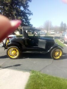 Ford Model T 1926 Roadster All Original Black With Yellow Wheels