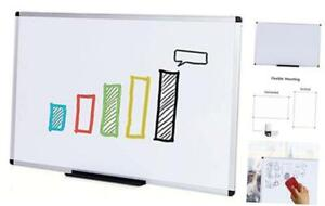 Dry Erase Board whiteboard Non magnetic Wall Mounted Board 48 X 36 Inches
