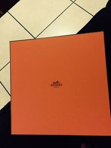 Hermes empty box One new 10 x 10 x 3 3 4 tissue soft pillow included