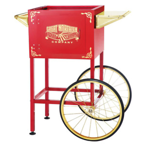 Red Cart For Larger Up To 8 Oz Roosevelt Style Popcorn Machines