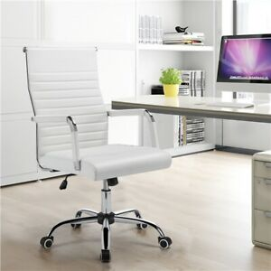 High Back Office Chair Pu Leather Executive Chairs With Wheels Swivel Chairs