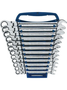 Gearwrench 12 Pc 12 Point Flex Head Ratcheting Metric Wrench Set 9901d