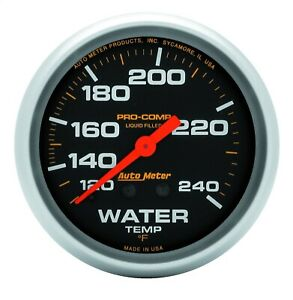 Autometer 5433 Pro comp Liquid filled Mechanical Water Temperature Gauge