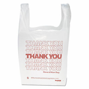 T shirt Thank You Plastic Grocery Shopping Carry Out Retail Bags 100 Bags pack