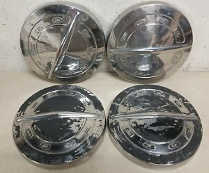 64 65 66 Ford Dog Dish Hub Caps 10 1 2 Set Of 4 Poverty Hubcaps 1964 1965 1966