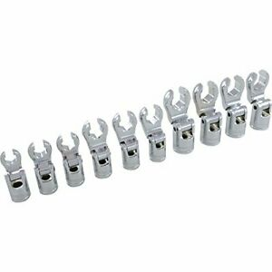 10 Piece 3 8 Drive Metric Flare Nut Socket Set 10mm To 19mm