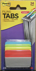Post it Angled Filing Tabs 24 Pack 686a alyr