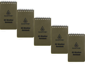 Waterproof Notebook Tactical Spiral Pad Grid Paper Outdoor Recording 3 x5 5pcs