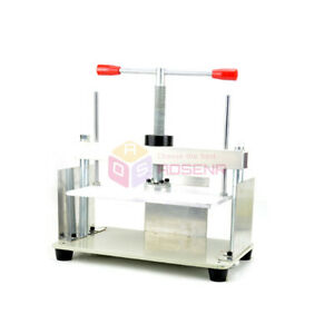 New A4 Size Manual Flat Paper Press Machine For Nipping Checks Booklets