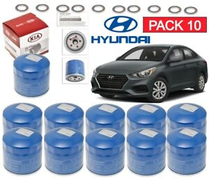 10 Pack Genuine Engine Oil Filter Washers For Hyundai Kia Oem 26300 35505