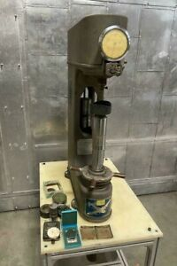 Clark Hardness Tester C12a With Cart Stand With Tooling Accessories