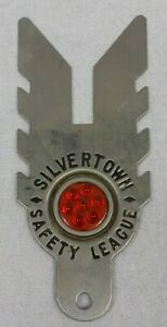 Vintage License Toppers Goodrich Silvertown Safety League W Reflector
