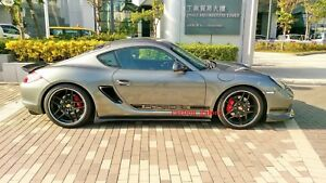 Carbon Fiber Side Skirt Extensions Add On For Porsche Boxster Cayman 987 05 12