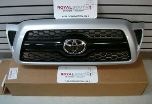 Toyota Tacoma 2005 2011 Sport Silver 1e7 Painted Honeycomb Grille Genuine Oem