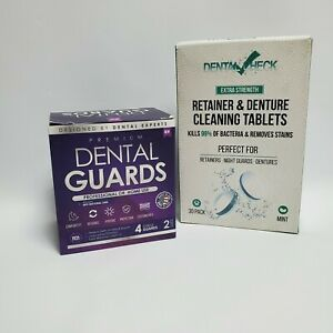 Premium Dental Mouth Guards 4guards Dental Check Retainer Cleaning Tablets