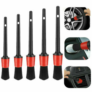 5pcs Car Engine Wheel Brushes Detail Brush Auto Detailing Wash Cleaning Kit