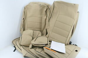 Ekr Custom Fit Full Set Car Seat Covers For Toyota Highlander Leatherette Beige