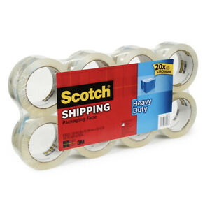 Scotch Heavy duty Shipping Packaging Tape 3m 8 Pk Clear