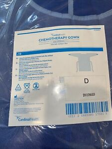 10 Cardinal Health 8200cg Chemotherapy Gown Universal Knit Cuffs Full Back Read