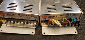 Lot Of 2 meanwell Sp 320 5 5v 55a Single Output Led Power Supply in Great Shape