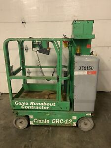 2011 Genie Grc12 12 Electric Runabout Scissor Vertical Mast Drivable Man Lift
