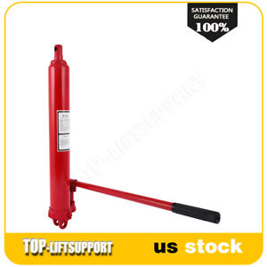 Hydraulic Long Ram Jack With Double Piston Pump And Clevis Base 8 Ton 16000 Lb
