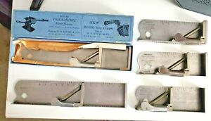 5 Vintage H b Rouse Co Stainless Steel Job Composing Sticks see Descripti