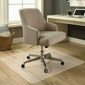 60 x48 Floor Office Rolling Chair Clear Pvc Carpet Rug Protective Mat Pad New